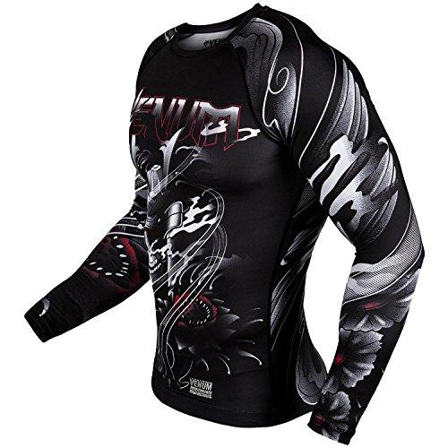 Venum Samurai Skull Long Sleeve MMA Rashguard - Black