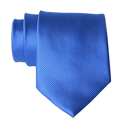 QBSM Royal Blue Polyester Casual Solid Neckties Groom Wedding Office Cravat Tie (Solid Satin Cravats)