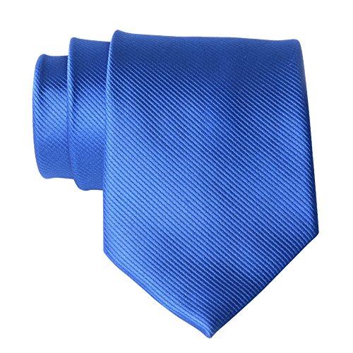 (QBSM Royal Blue Polyester Casual Solid Neckties Groom Wedding Office Cravat Tie)