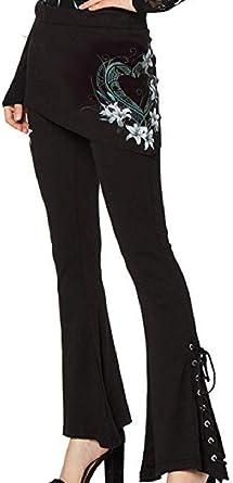 Lovelegis Pantalones góticos para Mujer Leggings de Falda para ...