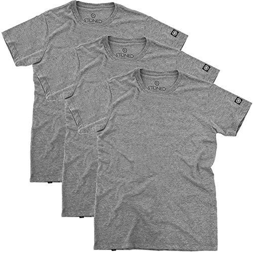 Kit Camisetas Cinza lisas Tamanho