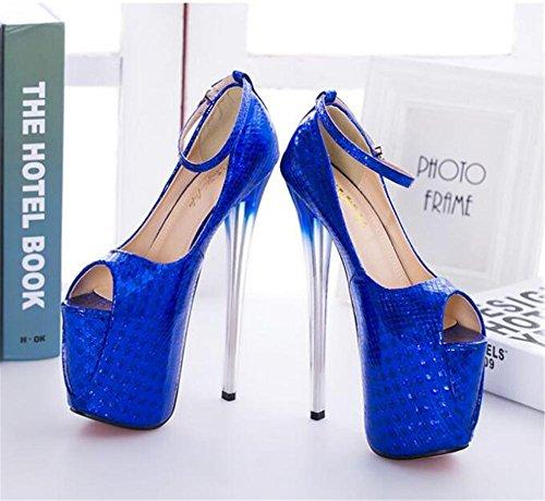 piattaforma Scarpe Tacco serata Club a EU41 a 41 GAOGENX 35 Pompe e donna da Festa da Cinturino spillo alla caviglia sandali AxwxtgqOd