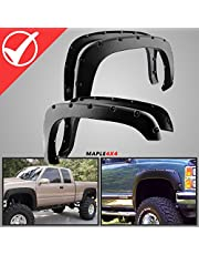 Maple4x4 1988-1998 Chevy CK Fender Flares-Smooth Black Paintable Pocket Style 4pc Kit w/Installation Hardware and Instructions