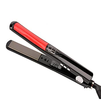 Angel Kiss Professiona Flat Iron Dual Voltage 1-Inch and 3D Floating  Ceramic Titanium Plate Hair