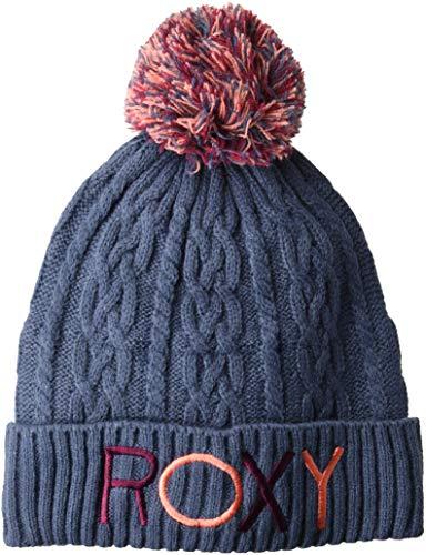Roxy Girls' Little Baylee Snow Beanie, Crown Blue, 1SZ
