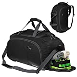 3-Way Travel Duffel Bag Backpack Travel Luggage Gym Sports Bag with Shoe Compartment