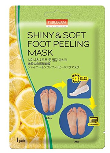 3-Pair Foot Peeling Mask Set By Purederm - Exfoliating Foot Peel Spa Mask For Baby Soft Skin W/Sunflower Seed Oil & Lemon Extract - For Men & Women - Removes Dead Skin & Calluses In 2 Weeks