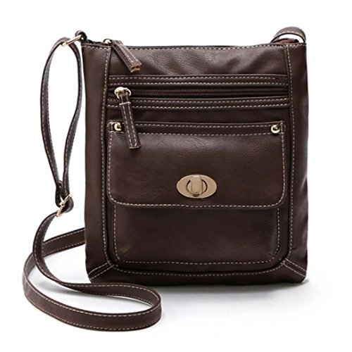 Hmlai Clearance Womens PU Leather Satchel Cross Body Shoulder Messenger Bag (Coffee) -