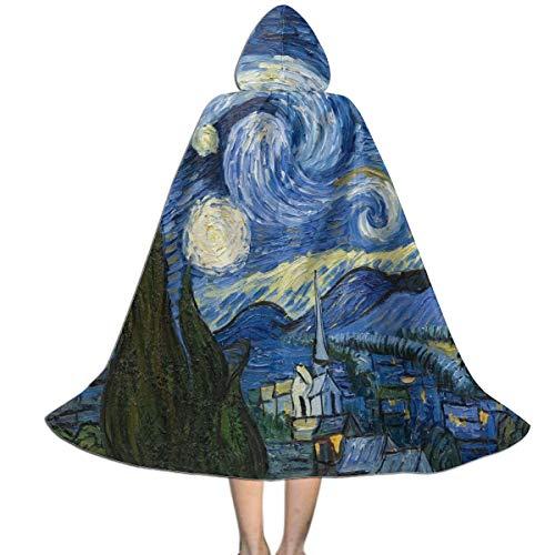 Van Gogh Halloween Costume Kids (Halloween Costumes Vincent Van Gogh Art Oil Painting Starry Night Hooded Witch Wizard Cloak for Womens Mens Kids)