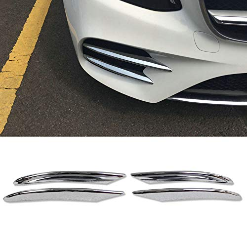 (Rqing for Mercedes-Benz New C-Class C300 AMG 2019 Front Fog Light Mesh Cover Trims (Chrome))