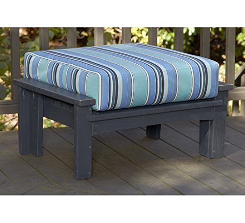 Uwharrie Chair Co 9021-31-Twilight Blue-Dist-Pine Chat Leg Rest, Twilight Blue-Distressed