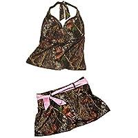 2b38b54580573 Mossy Oak Camo Halterkini Skirtini 2PC Swim Top + Swim Skirt S-XXL (Large