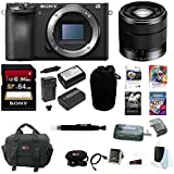 Sony a6500 Mirrorless Camera w/ 18-55mm Lens + 64GB Card Accessory Bundle