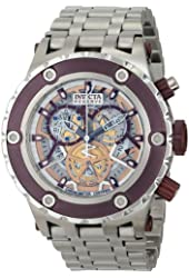Invicta Men's 12908 Subaqua Skeleton Dial Chronograph Stainless Steel Watch