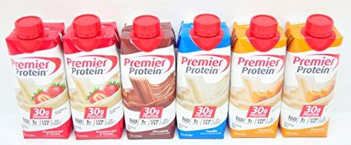Premier Protein Shakes 6 (11 Oz.) Pack Vanilla, Chocolate...