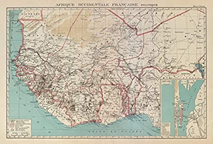 Map Of Africa Senegal.Amazon Com French West Africa Afrique Occidentale Francaise Saint