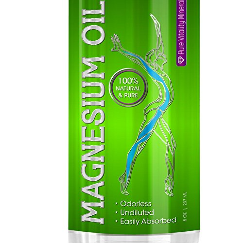 Best Magnesium Oil Spray - USP Grade - Made in USA - UNDILUTED & 100% Pure For Less Itch/Sting & Faster Absorption - Supplement For Sleep, Anxiety, Migraine, Muscle Pain, Restless Legs