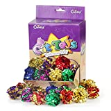 """Chiwava 24PCS 2.4"""" Mylar Balls Shiny Crinkle Cat Toys Ball Kitten Crackle Lightweight Play Assorted Color"""