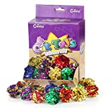Chiwava 45PCS 2.4'' Mylar Balls Cat Toy Shiny Crinkle Ball Kitten Crackle Lightweight Play Assorted Color