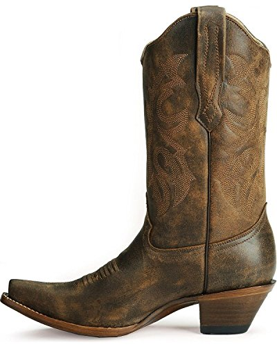 Distressed Boot Toe Women's Leather Western C2033 distressed Cowgirl Corral Snip S5gwUXwq