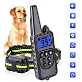Dog Training Collars, Dog Shock Collar with Remote 880yards, 3 Modes Beep Vibration Shock, IPX7 Waterproof, LED Light, USB Charging, Perfect for Training Small Medium Large Dogs