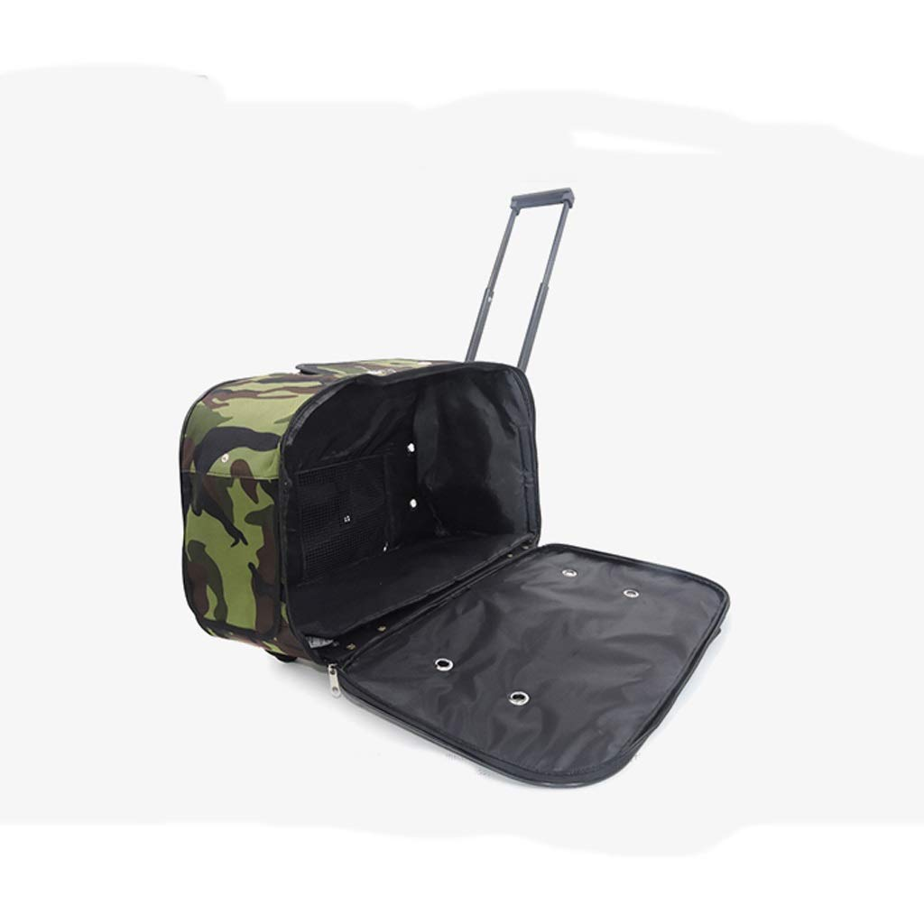 NYJ Dog Trolley Case Pet Bag Trolley Bag Pets Are Packed With Breathable Travel Bags Suitcase Removable