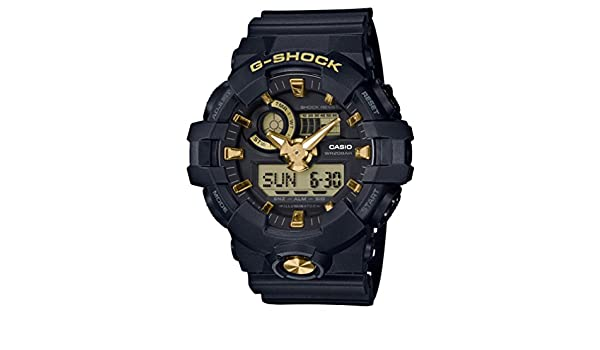 Amazon.com: G-SHOCK Black & Gold GA-710B-1A9JF Mens(Japan Domestic genuine products): Watches