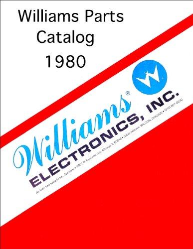 (1980 Williams Pinball Machine Coin-Op Game Parts Manual Catalog)