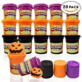 play dough 20 - THE TWIDDLERS 20 Cans of Assorted Coloured Clay Dough - Ideal Play Toys for Halloween Goodie Bags, Trick & Treaters, Partiy Gifts, Play-Doh & Pinatas