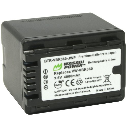 Wasabi Power Battery for Panasonic VW-VBK360 and Panasoni...