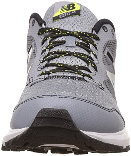 New Balance Mens 590 V2 Grey and Yellow Running Shoes - 9 UK/India (43 EU)