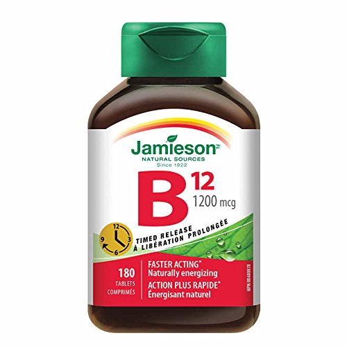 Jamieson Timed Release B12 1200 mcg,180 Tablets
