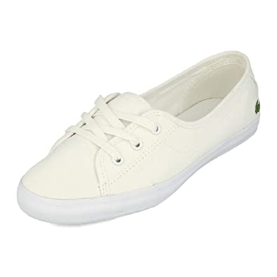 8c04f4c1c61f7e Lacoste Ziane Chunky BL 2 CFA Canvas Trainers in White 737CFA0064 21G  UK 3