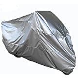 Silver Waterproof Sun Motorcycle Cover, Indoor/Outdoor Scooter Cover,Silver cloth anti-radiation, Avoid overheating, UV Protection, Fits up to 96