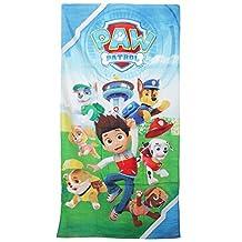 Paw Patrol Childrens/Kids Cotton Beach Towel (55in x 28in) (Blue/Green)