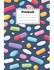 Notebook : pharmacy technician with colorful pills tablets capsules: pharmacy technician Notebook with different Pills colorful for write down ideas ,writing journals and gift for your loved and much more ( size 6x9 inches college ruled )