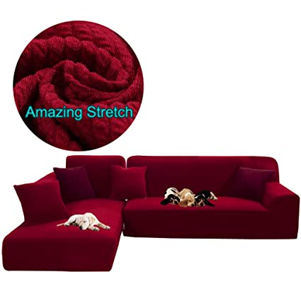 Amazon.com: Obokidly Anti-Wrinkle Stripe Knitting Sofa ...