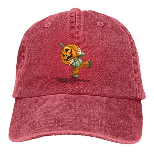 Pumpkin Character Decoration Halloween Cowboy Hat Dad Hats Hiphop Adjustable Cap for Mens Womens Red ()