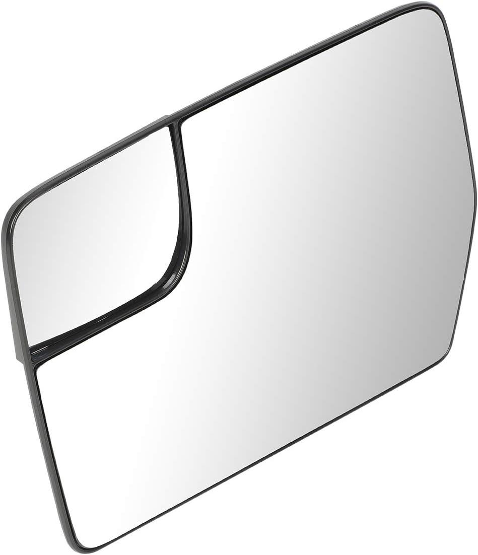DNA Motoring OEM-MG-0184 BL3Z17K707D OE Style Driver//Left Spotter Mirror Glass,Silver