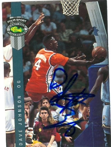 Autograph Warehouse 77570 Dave Johnson Autographed Basketball Card Syracuse 1992 Classic Four Sport No .21