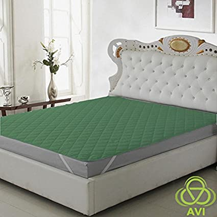 AVI Water Resistant & Dustproof Mattress Protector King Size 72 X 78 -Olive Green-for King Size Bed Mattress- with Elastic Bands