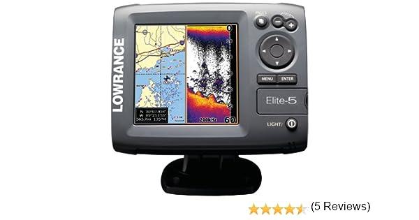 Lowrance Elite-5 - GPS Marino con Plotter: Amazon.es: Deportes y ...