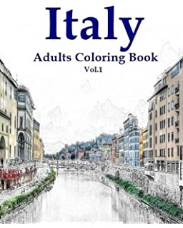Italy Adult Coloring Book