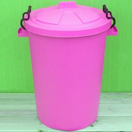 Pink 110 Litre Bin/Storage For Homes Gardens Animal Feed (Make In The UK) Image Accessories