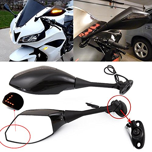 Motorcycle LED Turn Signal Rearview Mirrors with Arrow For Sport Bike Honda CBR600RR 2003-2011 CBR1000RR 2004-2007