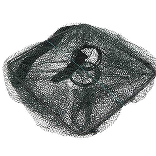 AZcczzii-Magic Fishing Net Fine Fish Aluminum Ring Monofilament Thread Throwing Cast Net Saltwater Fishing Cast Net S~L (M, Blcak)