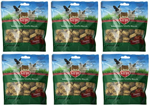 Kaytee Products Inc Treats - Kaytee (6 Pack) Timothy Hay Baked Apple Small Animal Treats, 4-Ounce