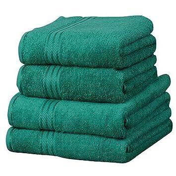 Linens Limited Supreme - Toalla de tocador (100% algodón egipcio), color verde oscuro: Amazon.es: Hogar