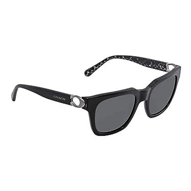 15052ab09d04 Coach Womens Sunglasses Black/Grey Acetate - Non-Polarized - 52mm
