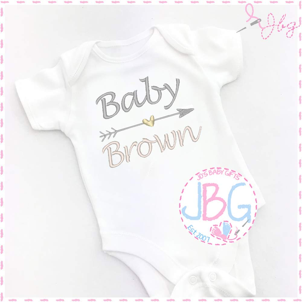 Personalised Embroidered Baby Vest//Onsie Baby Shower//New Baby Gift Unisex Grow